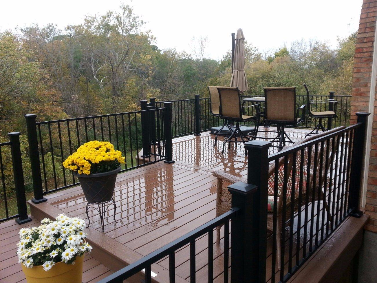 modern Simple Elegant Powder Coated Deck Fence