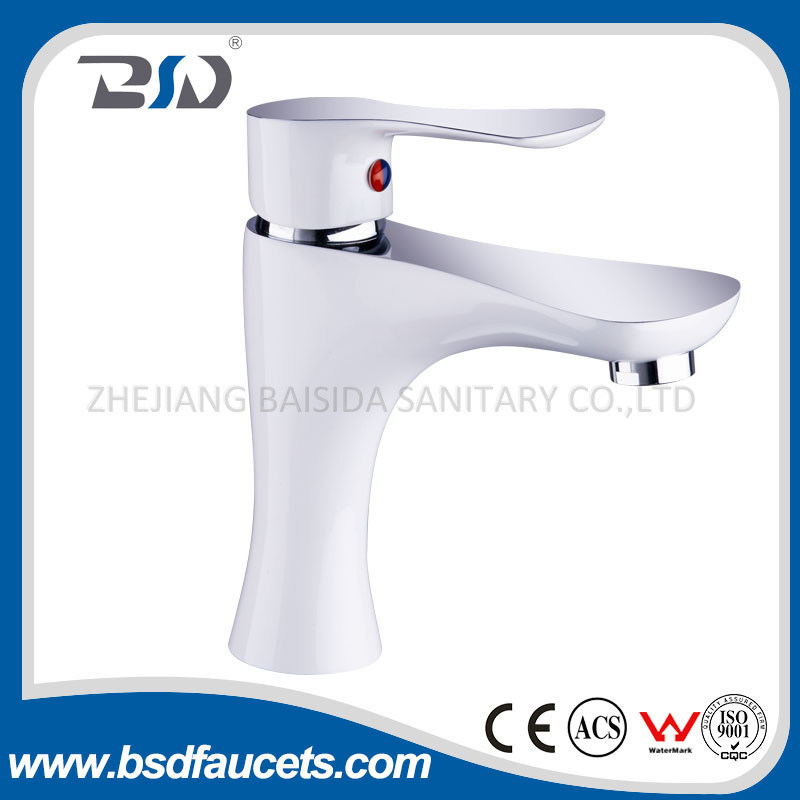Classical Deck Mounted Single Lever Brass Paint&Chrome Bath Faucet