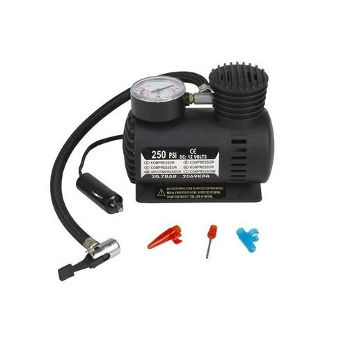 250psi DC 12V Portable Electric Mini Tire Inflator Air Compressor Car Auto Pump