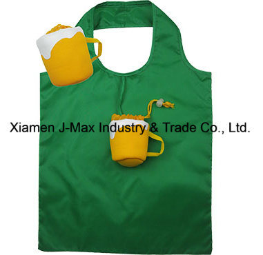 Foldable Shopper Bag, Coffee Cup Style, Reusable, Lightweight, Grocery Bags and Handy, Gifts, Tote Bag, Decoration & Accessories, Promotion Bags