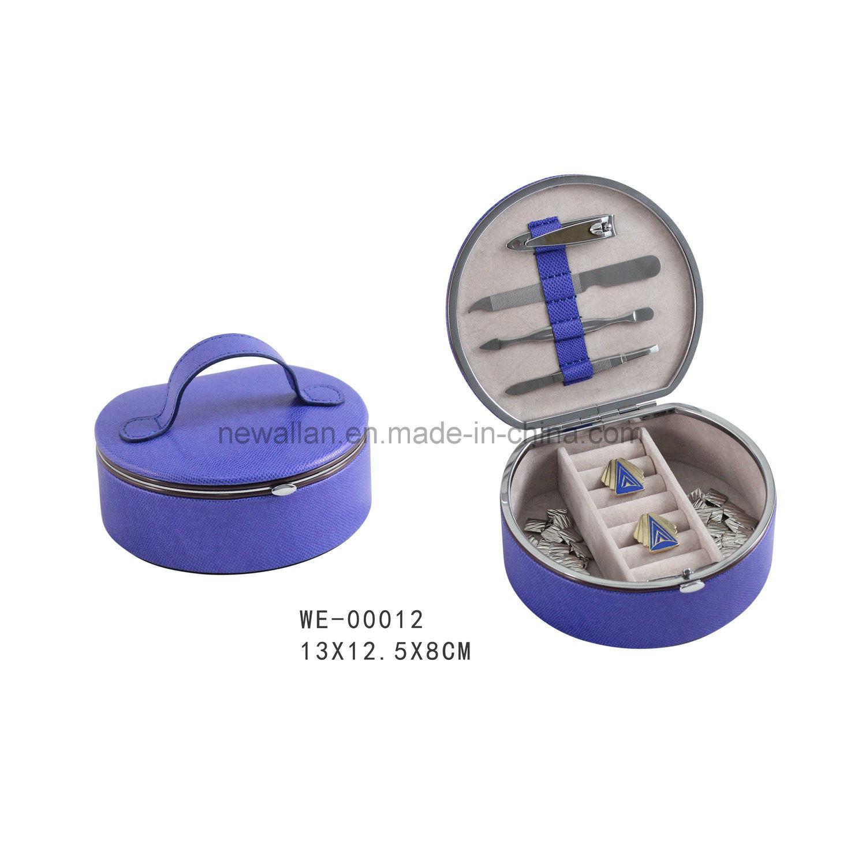 4PCS Nail Tools Metal Frame Leather Manicure Set