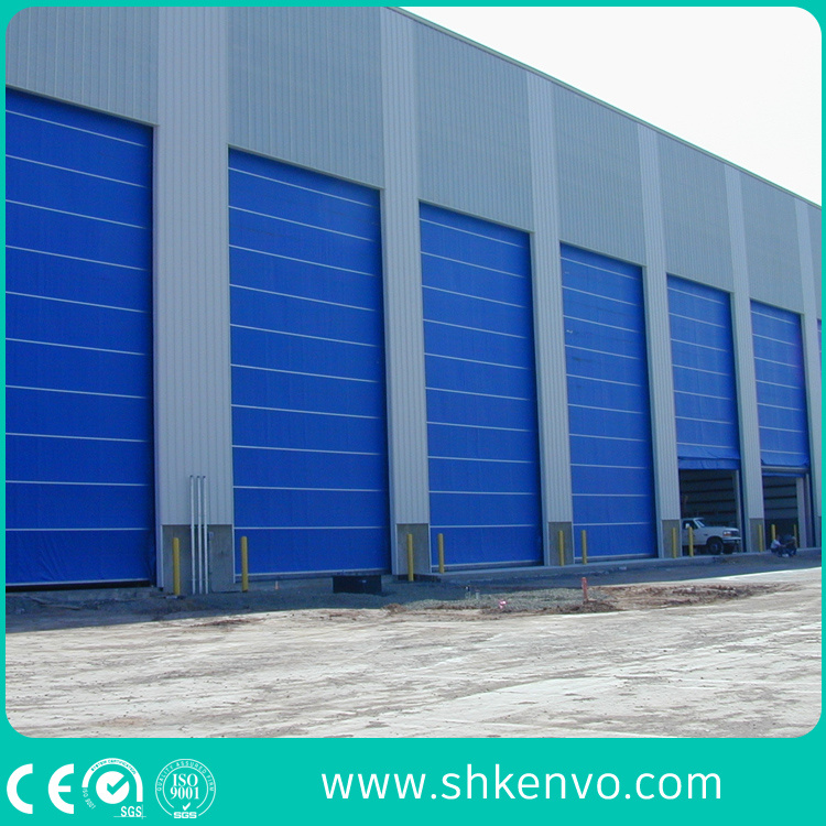 PVC Fabric Lifting Folding up Blasting Room Mega Door