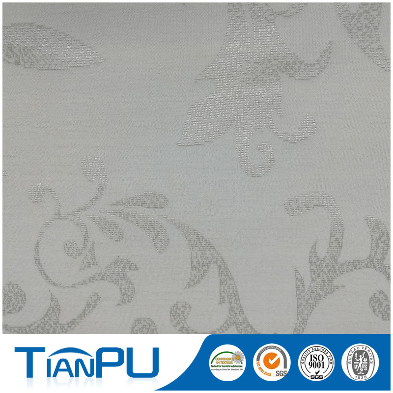 Silver-Clear 100% Polyester Jacquard Mattress Ticking Fabric