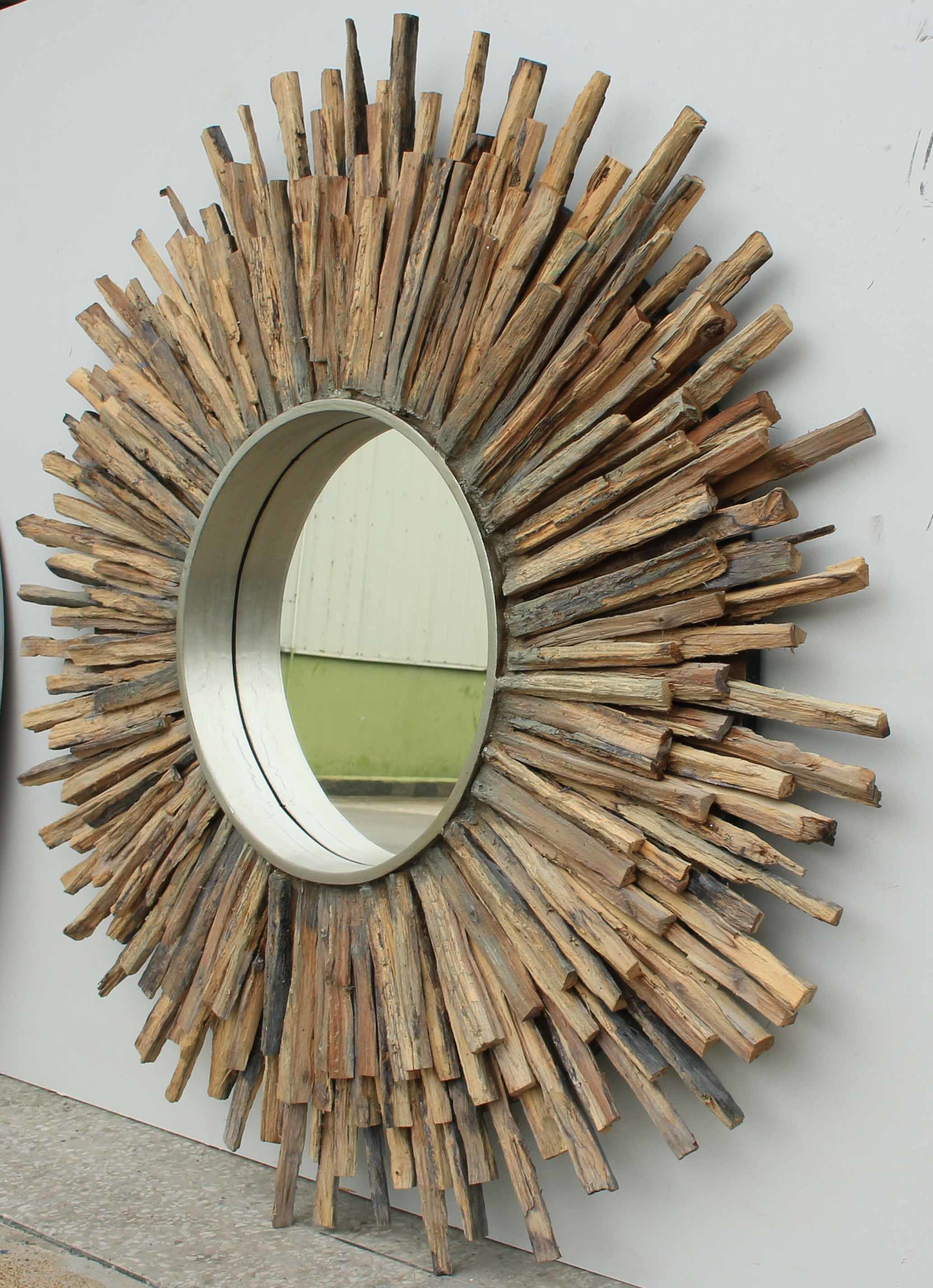 Special Shape Weathered Home Decorative Wall Mirror (LH-W17034)
