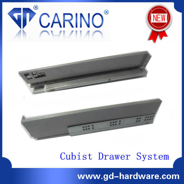 Concealed Full Extension Drawer Slides Bottom Mount with One Bar (F218G)