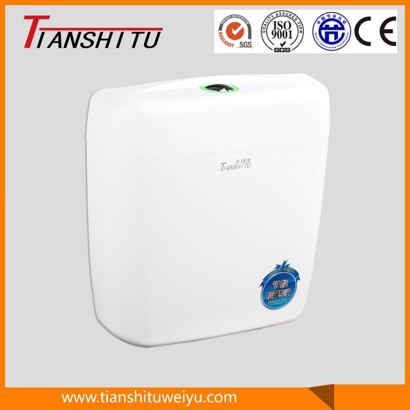T01 Wall-Mounted PP Toilet Cistern for Squatting Pan Water Mark Cistern Sanitary Cistern