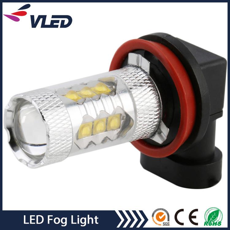 12V Auto LED Light Bulb H11 H16 H3 80W Fog Lights for Car