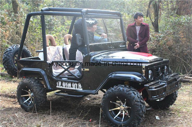 Black 4 vehicles sports ATV for farm
