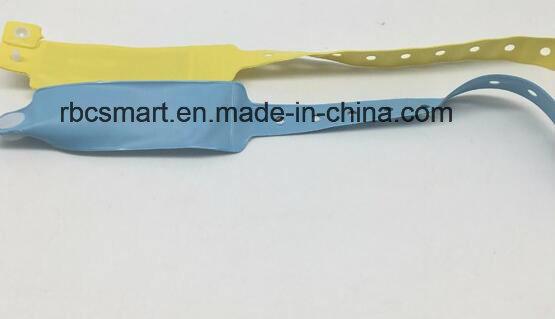 PVC Disposable RFID/NFC Hospital One Time Use Wristband/Bracelet