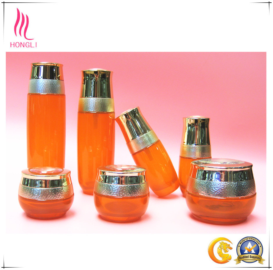 Glass Bottle Cosmetic Bottle Aluminum Cover