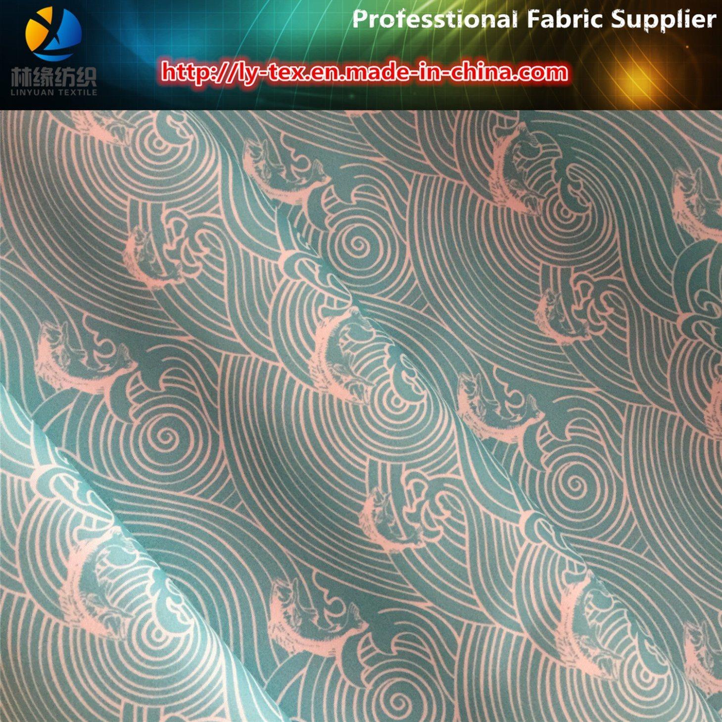 150d Polyester Twill Gabardine Printed Shirting Woven Fabric