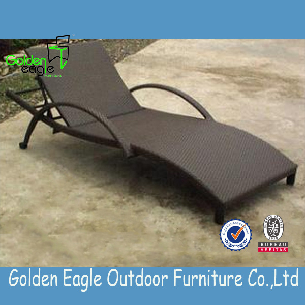 Outdoor Wicker Sun Lounger with Attractive Design