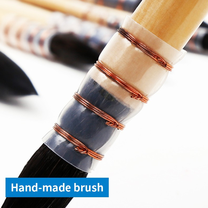 20rq Squirrel Hair Wooden Handle Watercolor Painting Art Brush Set