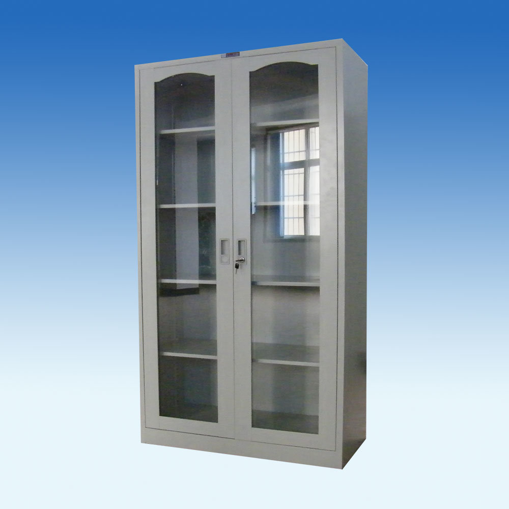 Glass Cabinet Doors : Storage cabinet with glass doors