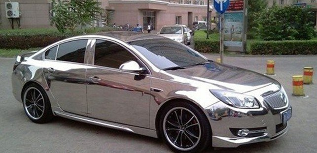 china chrome silver car wrapping film china chrome