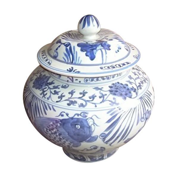 Antique Porcelain Fish Pot (LW174)