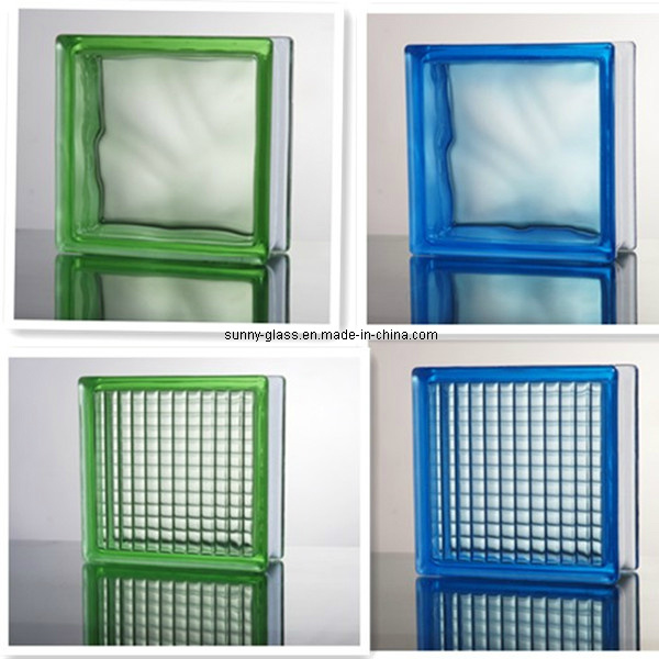 Blue Green Hollow Color Glass Block-Tinted Glass Brick