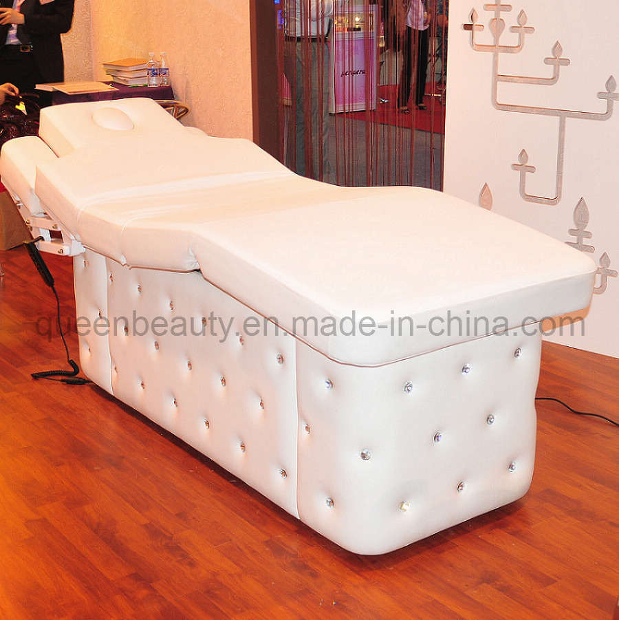 China electric pure white beauty salon bed facial table for Beauty salon bed