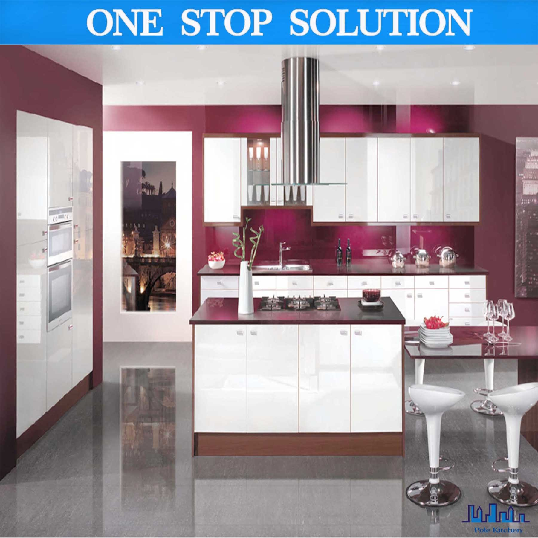 China 2016 New Arrival Modern Kitchen Cabinet Red Color