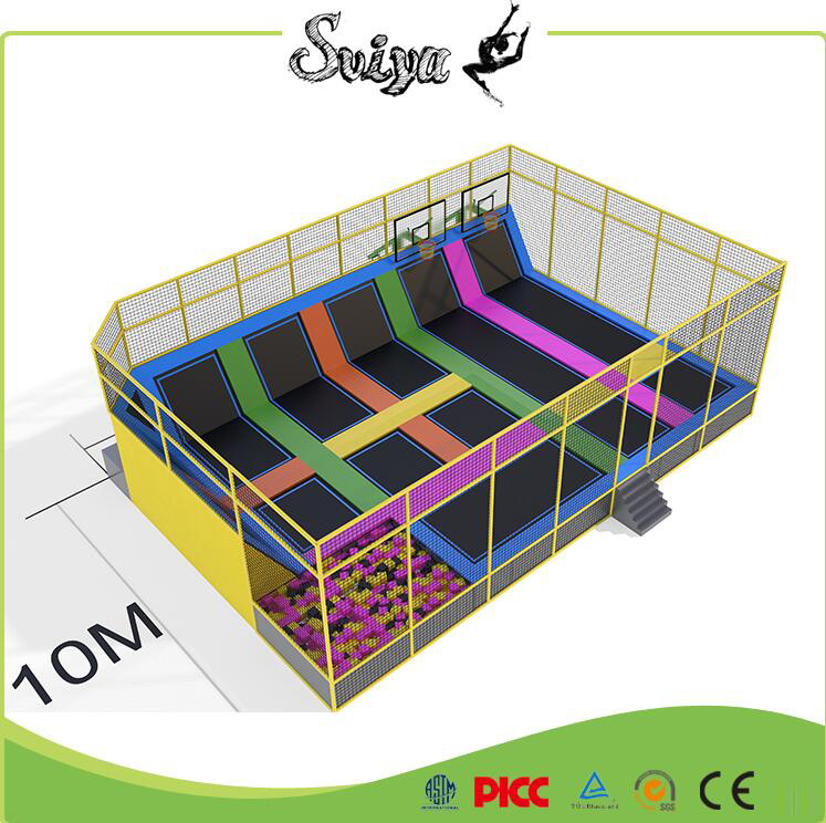 Colordul Design Trampoline Park Kids Indoor Trampoline with Safety Net