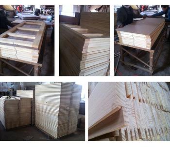 Simple Design Solid Wood Door for Rooms (SC-W136)