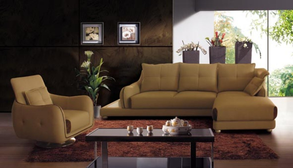 china modern furniture sectional leather sofa 2017