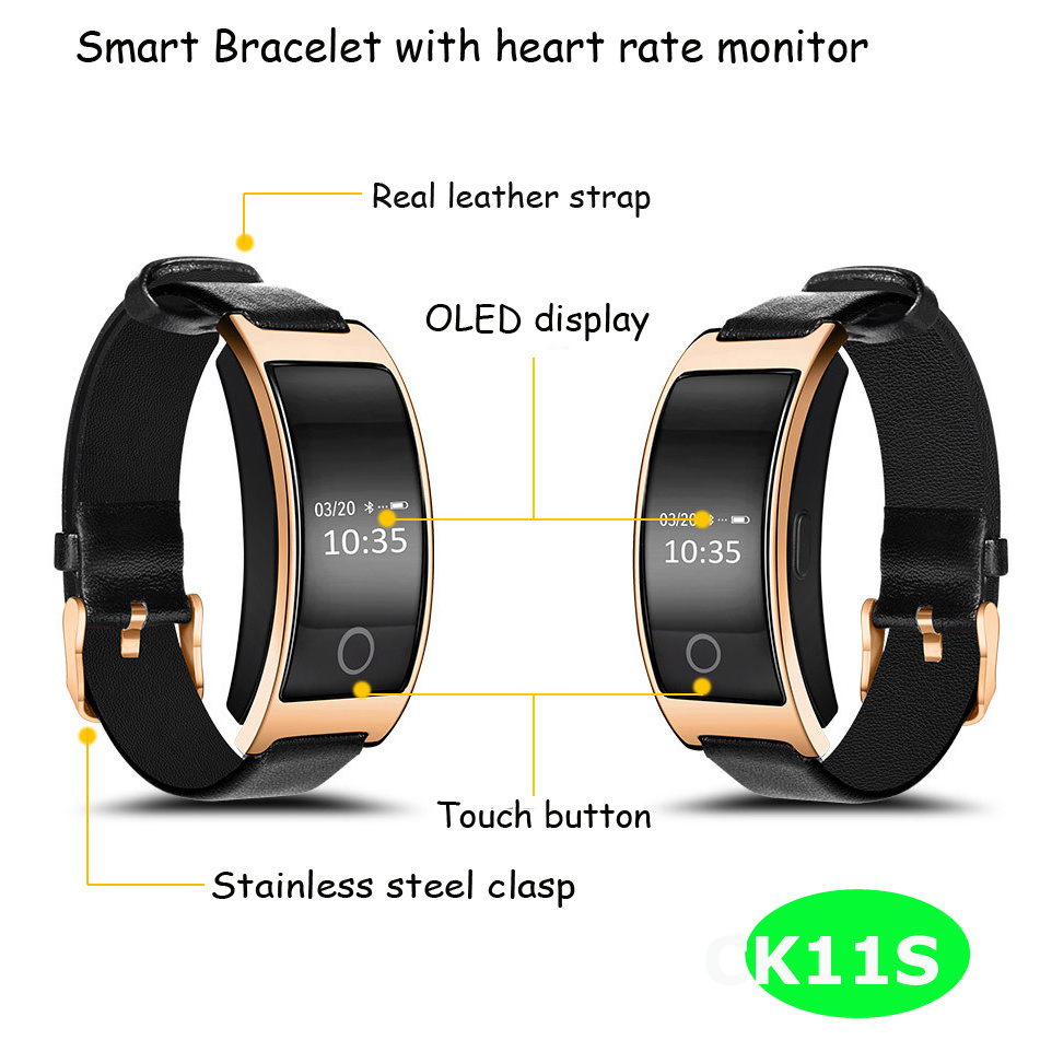 Heart Rate Monitor Waterproof Smart Bracelet with Long Standby Time