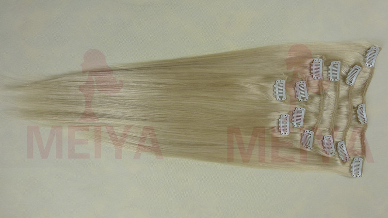 Blonde Clip in 5A Indian Remy Hair Weft