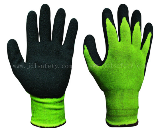 Foam Latex Coated Work Glove with Brushed Shell (LCS3019B)