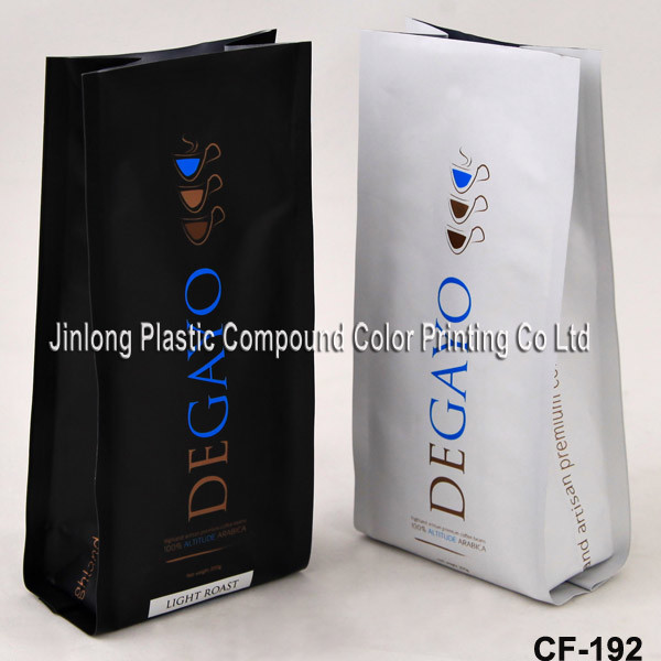 Side Gusset Coffee Packaging Bag with Valve