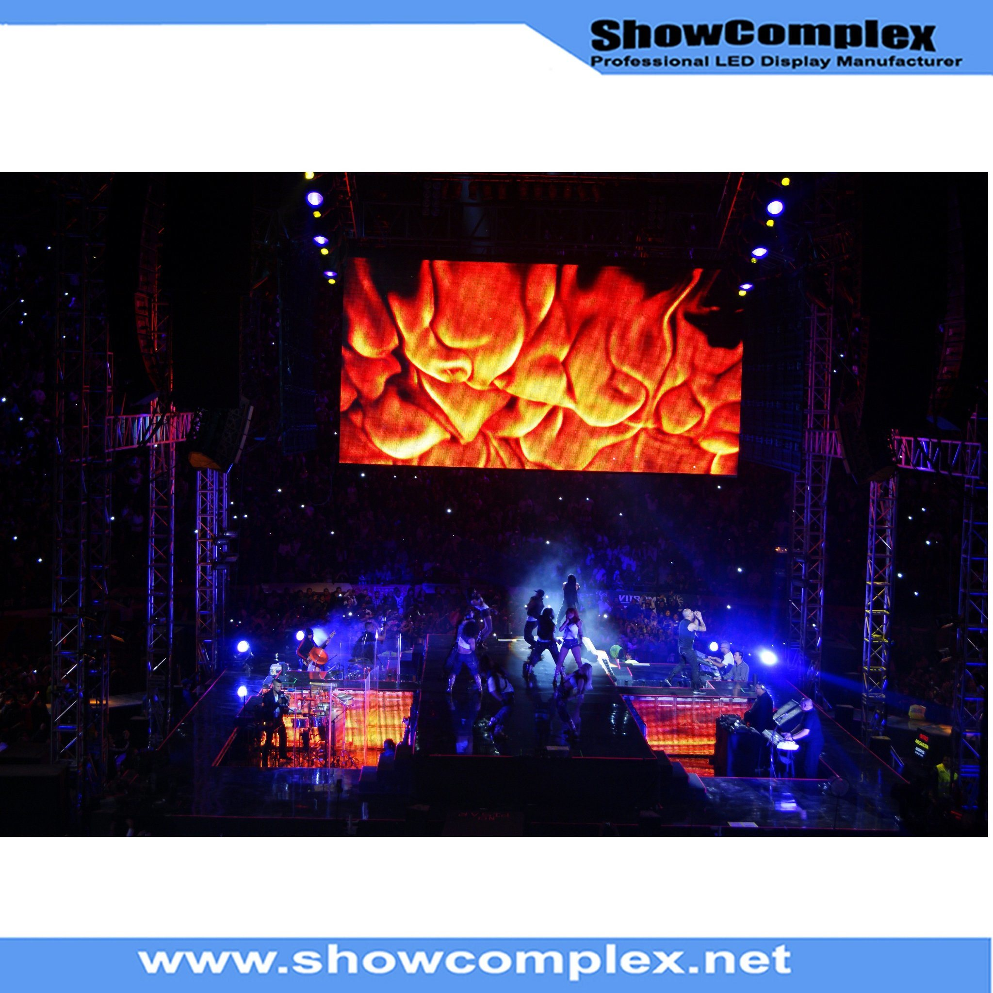 P3.9 Indoor Full Color HD LED Display Screen for Stage