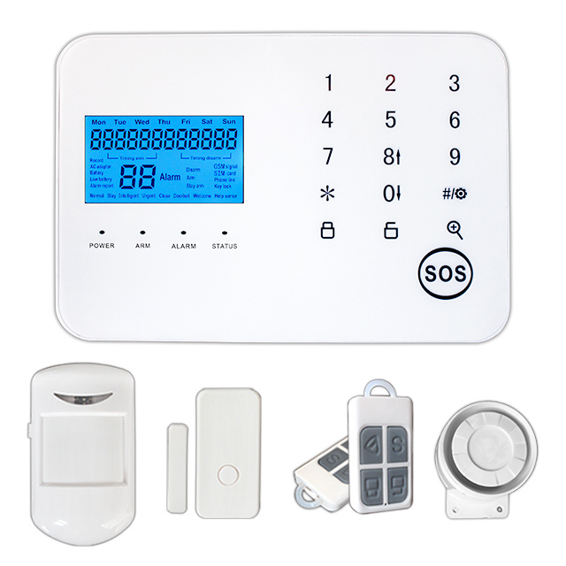 Promotion Touch Panel Wireless PSTN & GSM Security Alarm System