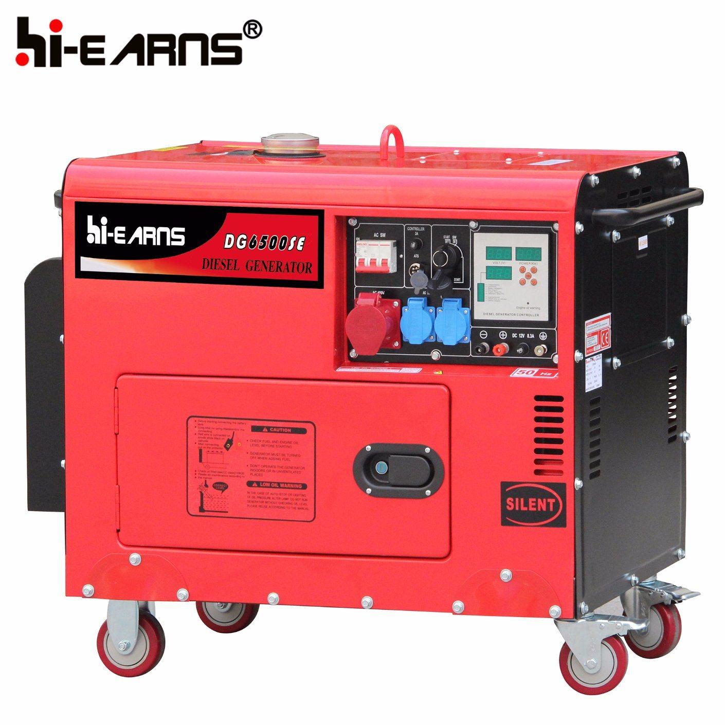 China Silent 5 5kw Home Use Generator DG8000SE China Diesel