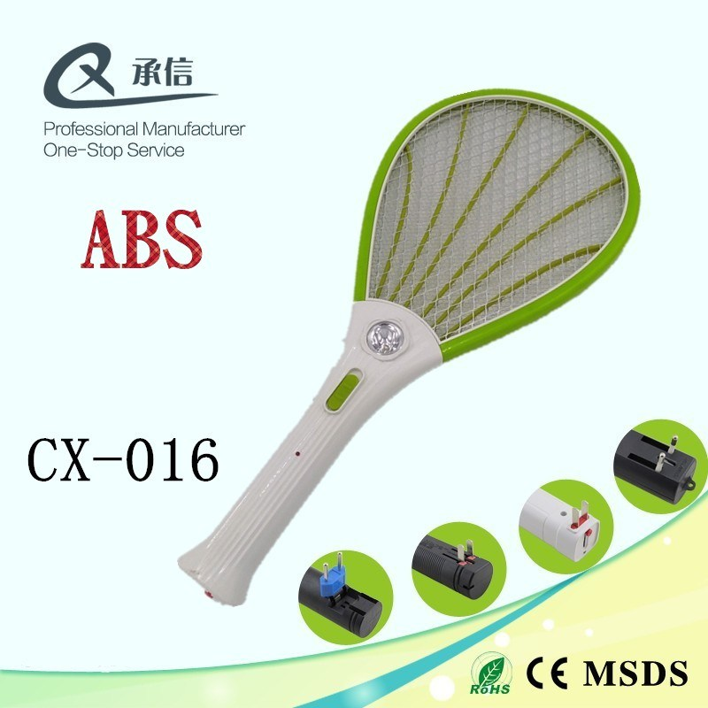 ABS White Handle Mosquito Swatter Racket Insect Killer with LED in China