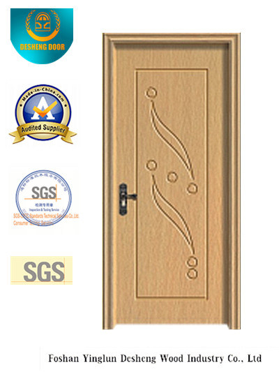 Simple Style Solid Wood Composite MDF Interior Room Door with White Color (xcl-856)