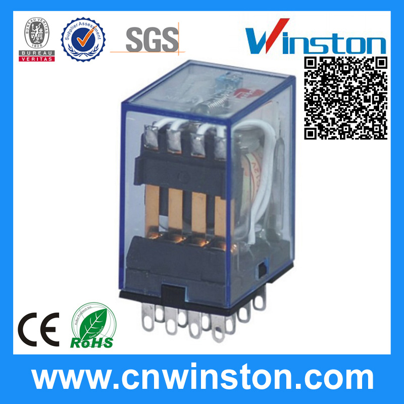 Transparent Shell Industrial Automotive Electromagnetic Relay with CE