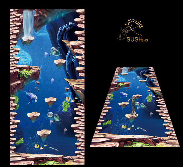 Sea Dolphin 3D Floor Sticker