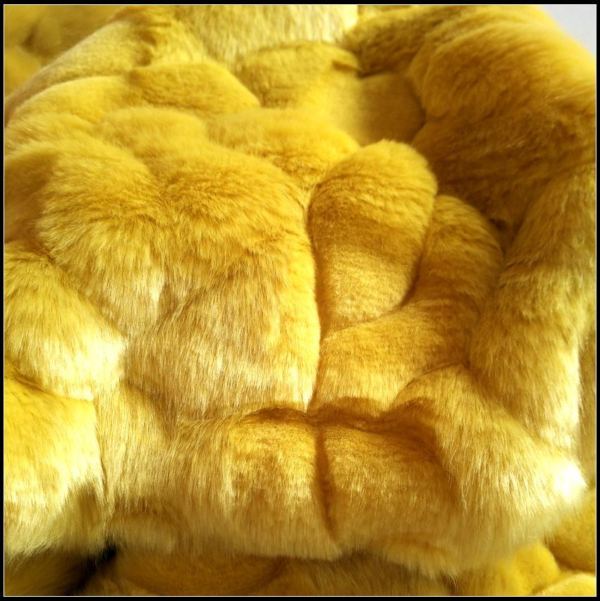 Design Cut High Pile Imitation Rabbit Fur