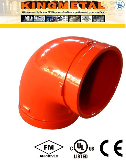 "300 Psi 4"" Ductile Iron Grooved Fittings 90 Degree Elbow"