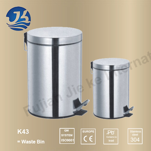 High Quality Stainless Steel Bathroom Hardware Waste Bin