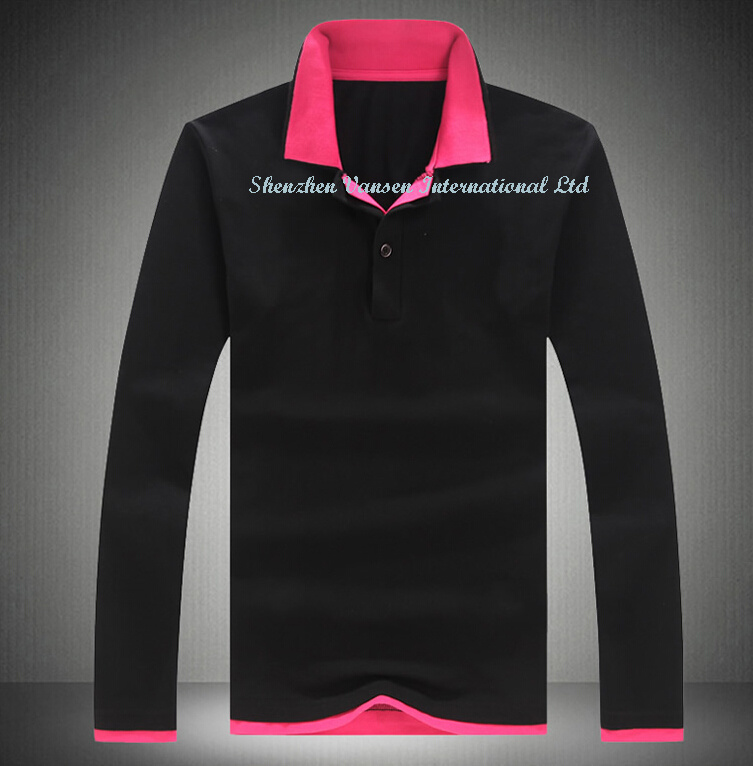 Fashion Long Sleeve Polo Shirt with Good Design
