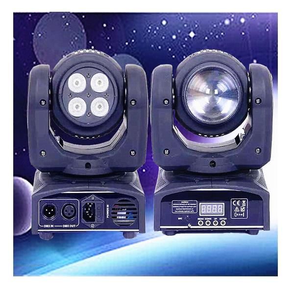 Alite Lighting 2PCS 10W Double Side Face LED Beam Moving Head Light