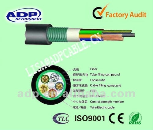 GYTS Steel Armored Underground Duct Optical Fiber Cable