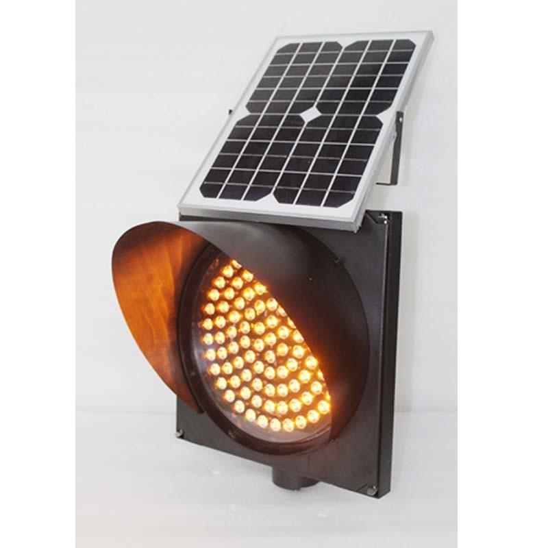 300mm LED Lens Yellow Flashing Traffic Solar Warning Light