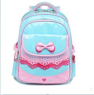 PU Leather Girls′ School Bags