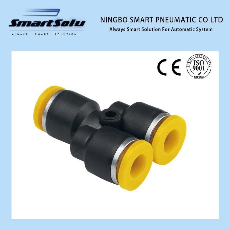 Ningbo Smart 100% Tested Plastic Metal Pneumatic Fittings