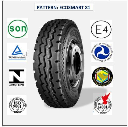 All Steel Radial Truck & Bus Tires with ECE Certificate 11.00r20 (ECOSMART 81)