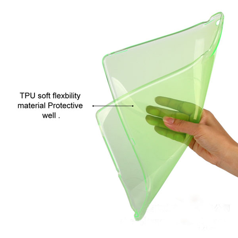 Soft Clear Transparent TPU Protective Case for Apple iPad PRO