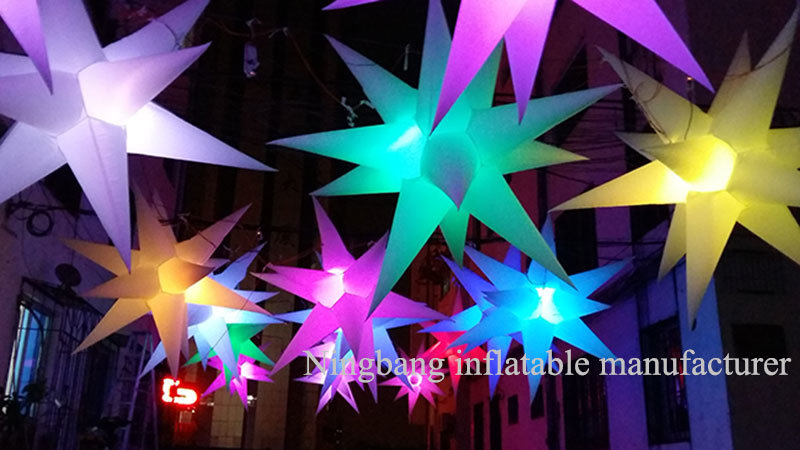 2016 New Style Inflatable Star with LED Light Inside for Party Event Wedding Decoration