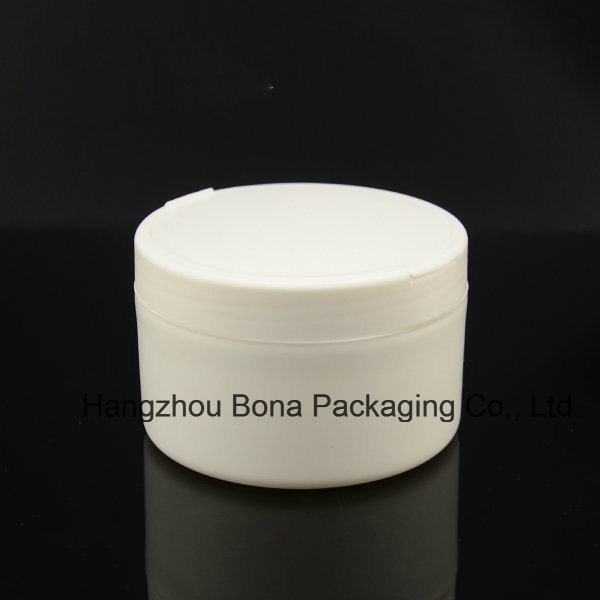 White Round Powder Box with Straight Edge